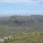 The Crinkle Crags from the col at Sca Fell.