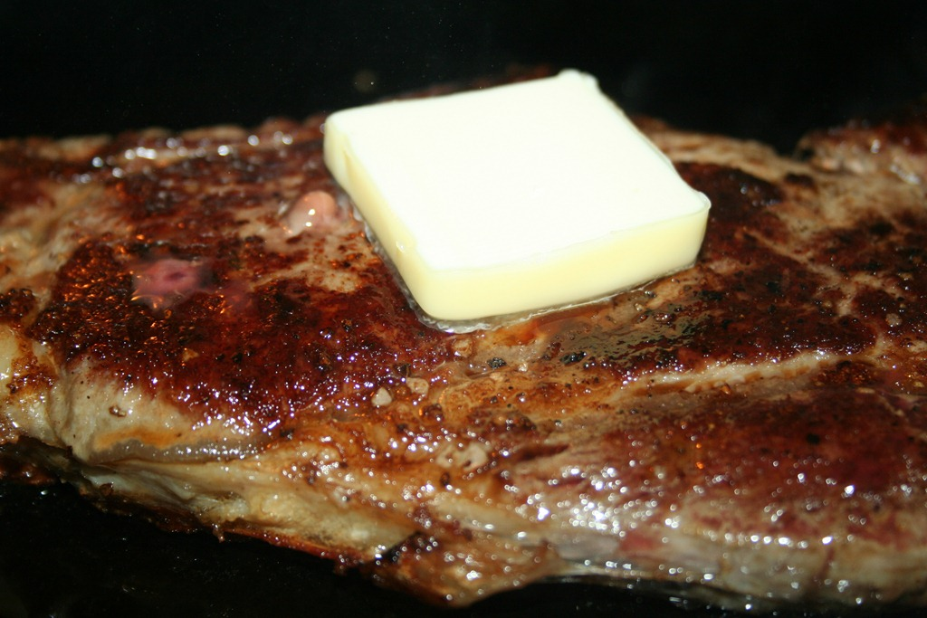 Cast Iron Skillet Rib Eye Steak