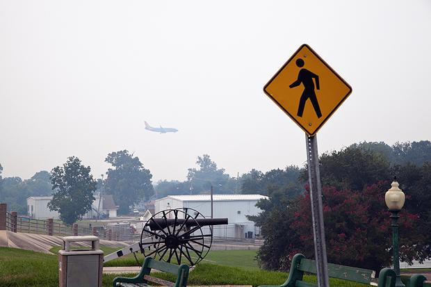 Jet Plane in the Haze