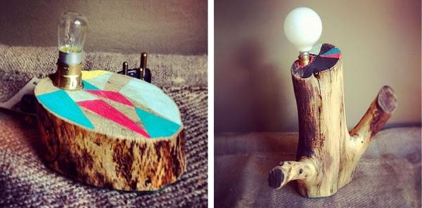 Tree stump lights by South African company, Beards & Banjos
