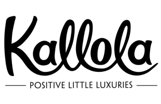 Hand lettered logo design for Kallola