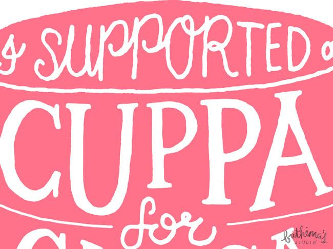 Hand Lettering for Cuppa for Cansa