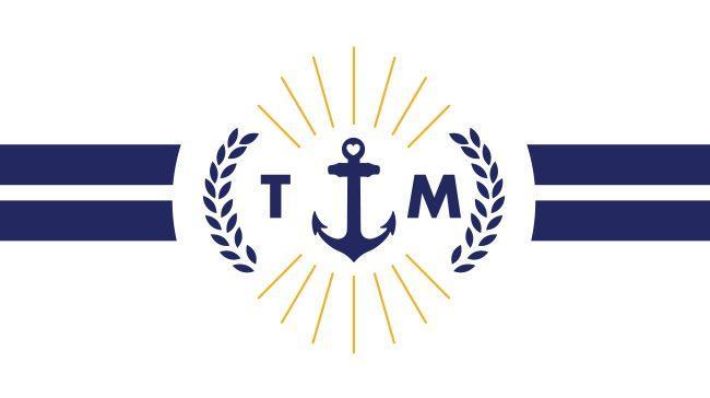 nautical typographic wedding stationery - crest
