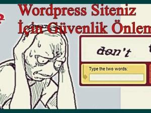 Wordpress Captcha Güvenlik