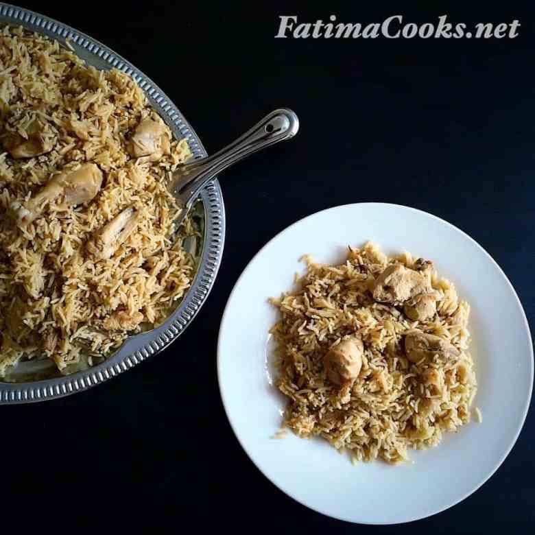 Pakistani Chicken Pilau - served!