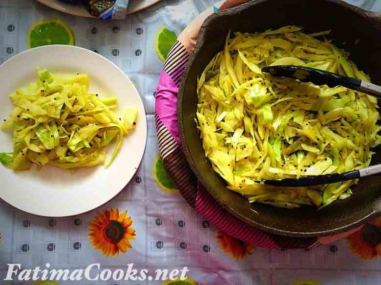 Kobi Di Sambharo - Gujerati Cabbage Stirfry