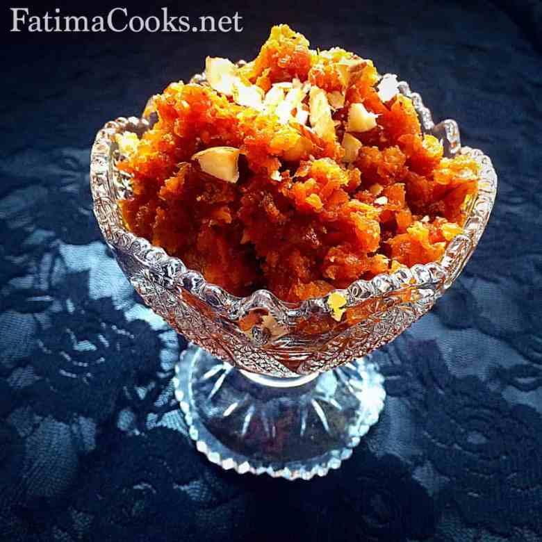 Gajar (Carrot) Ka Halwa - a dessert recipe @ fatimacooks.net