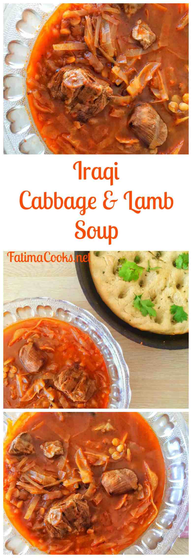 Iraqi Cabbage & Lamb Stoup - try this simple and healthy recipe served with warm, homemade bread! Recipe @ fatimacooks.net