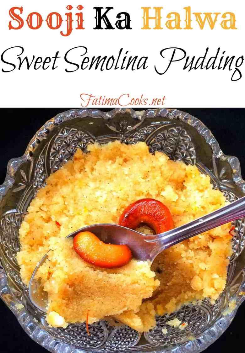 Sooji Ka Halwa - Sweet Semolina Pudding @ fatimacooks.net