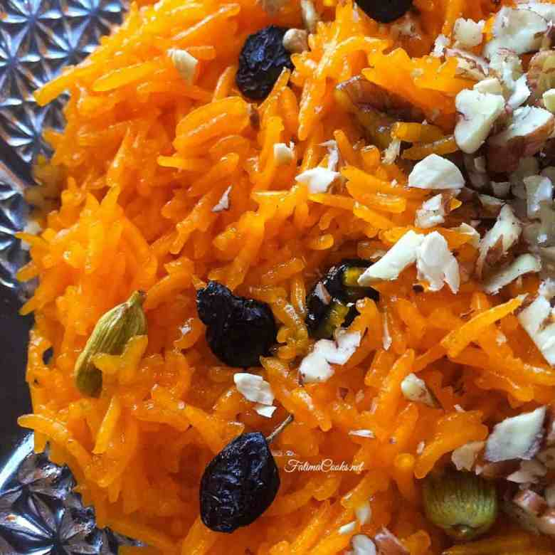 Zarda - Sweet Pakistani Rice Laced With Nuts, Raisins & Cardamom