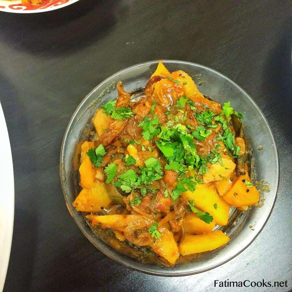 how to cook potato bhujia