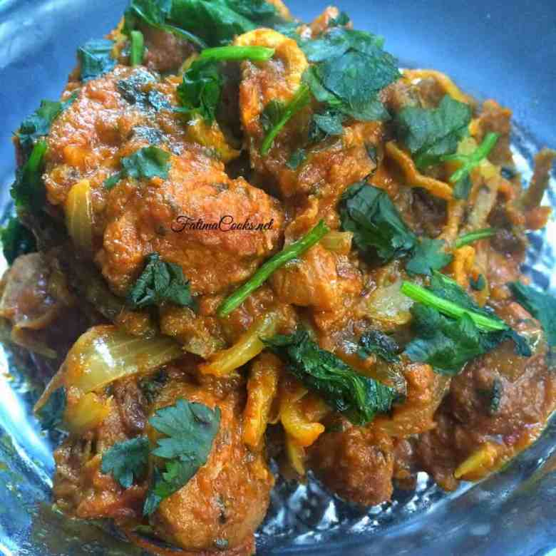 Karele Gosht - Bitter Gourd and Meat (Lamb or Mutton) Curry