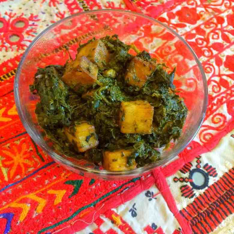 Palak Paneer Spinach And Paneer Curry Fatima Cooks