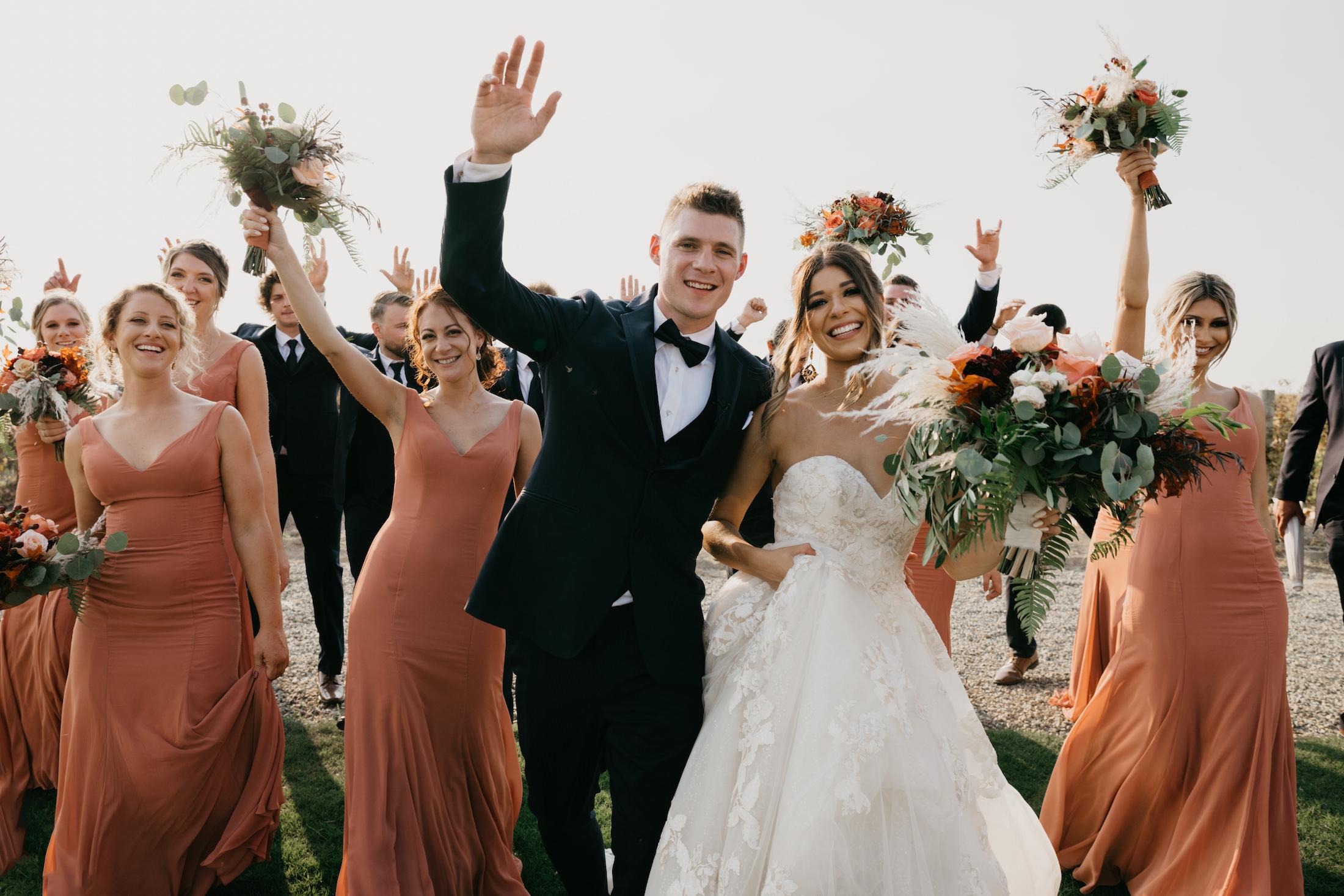 Bridal Party fun shot, image by Fatima Elreda Photo