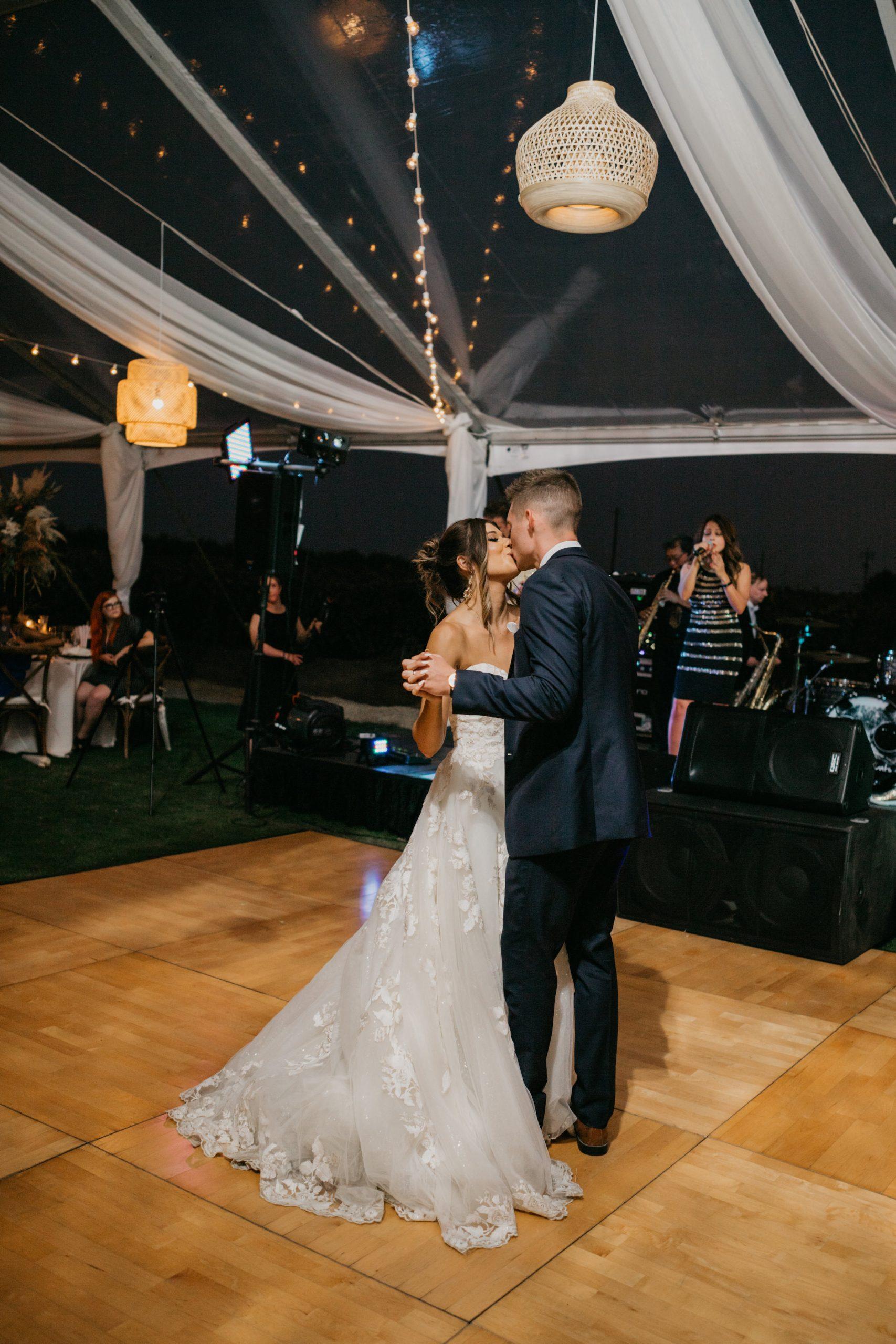 Evanelle Vineyards Wedding Bride and Groom First Dance, by Fatima Elreda Photo (393 of 590)