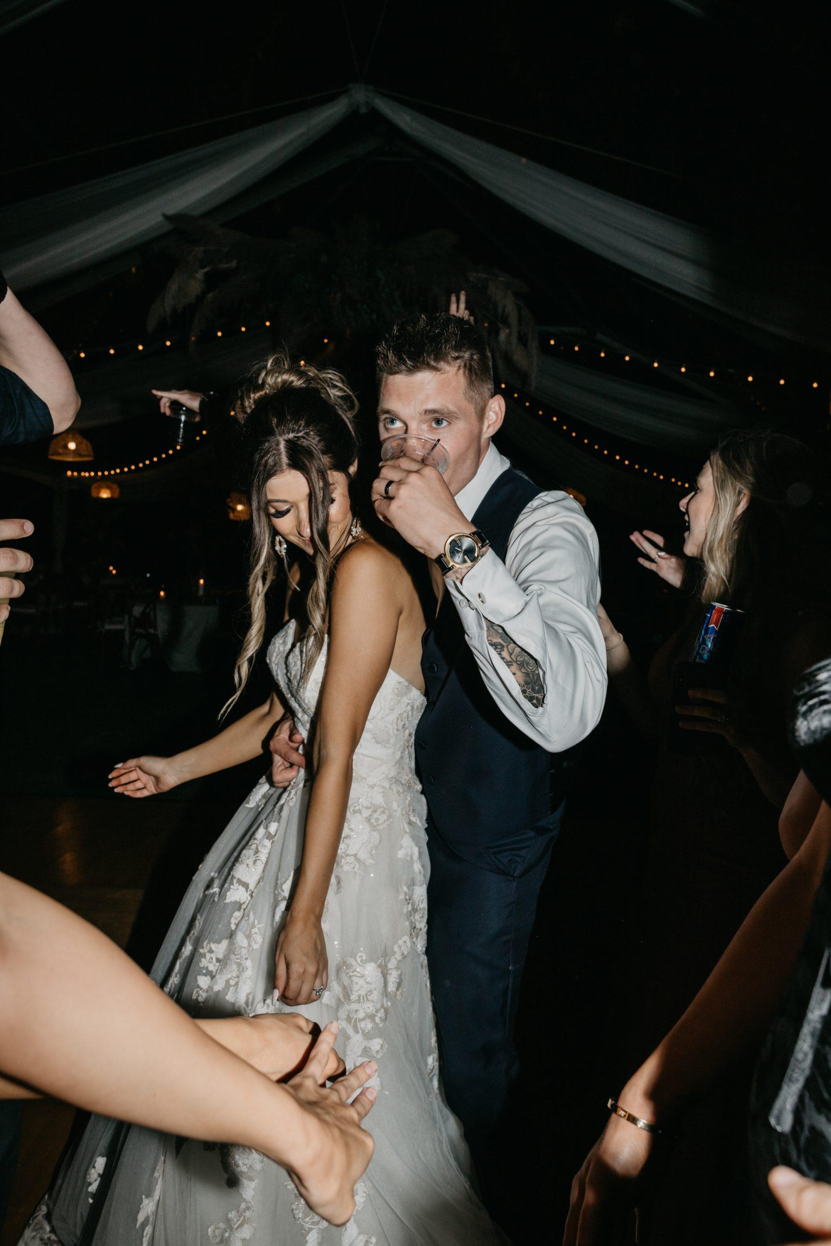 Bride and groom dance on the dance floor, image by Fatima Elreda Photo