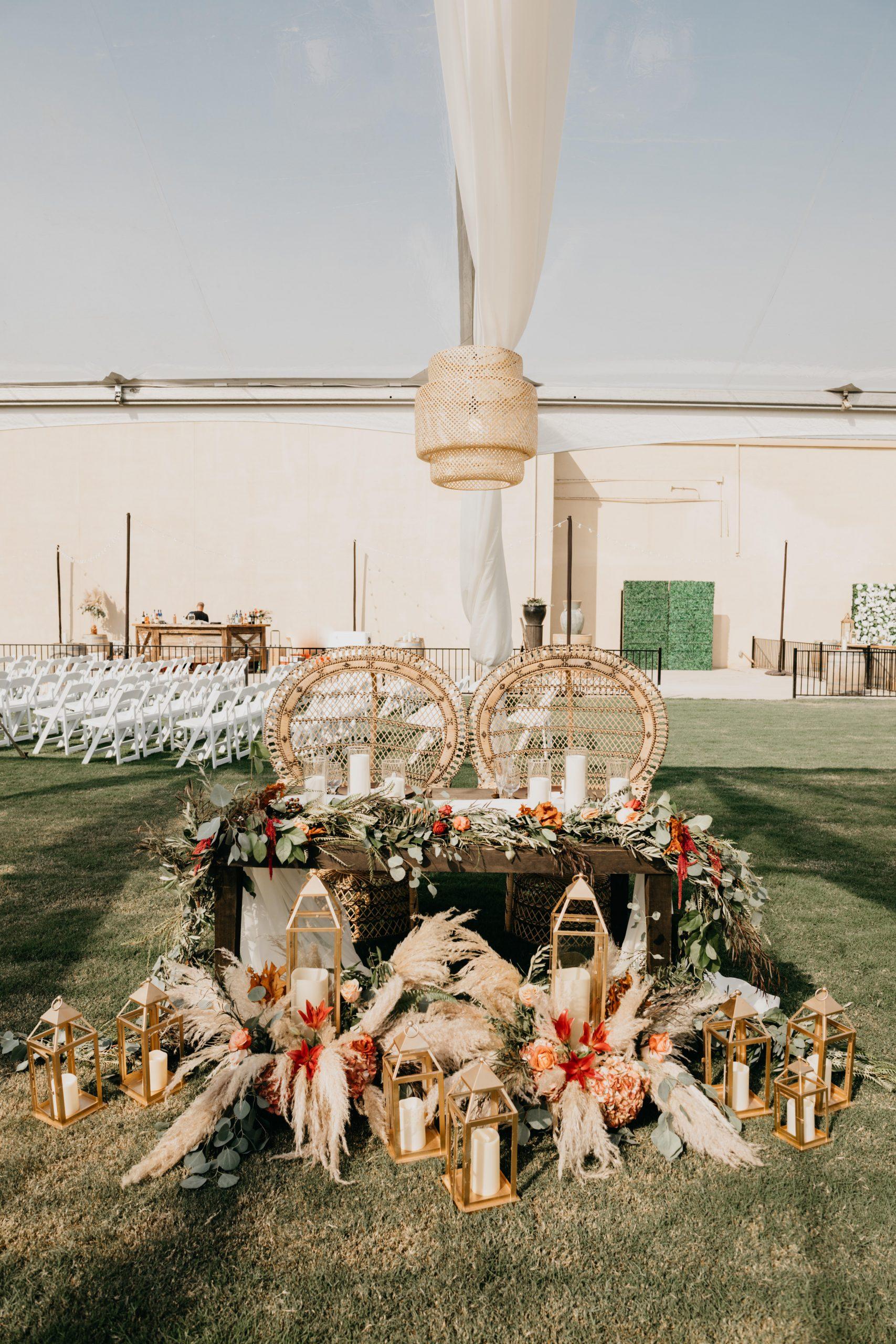 Bridal Sweetheart Table, image by Fatima Elreda Photo
