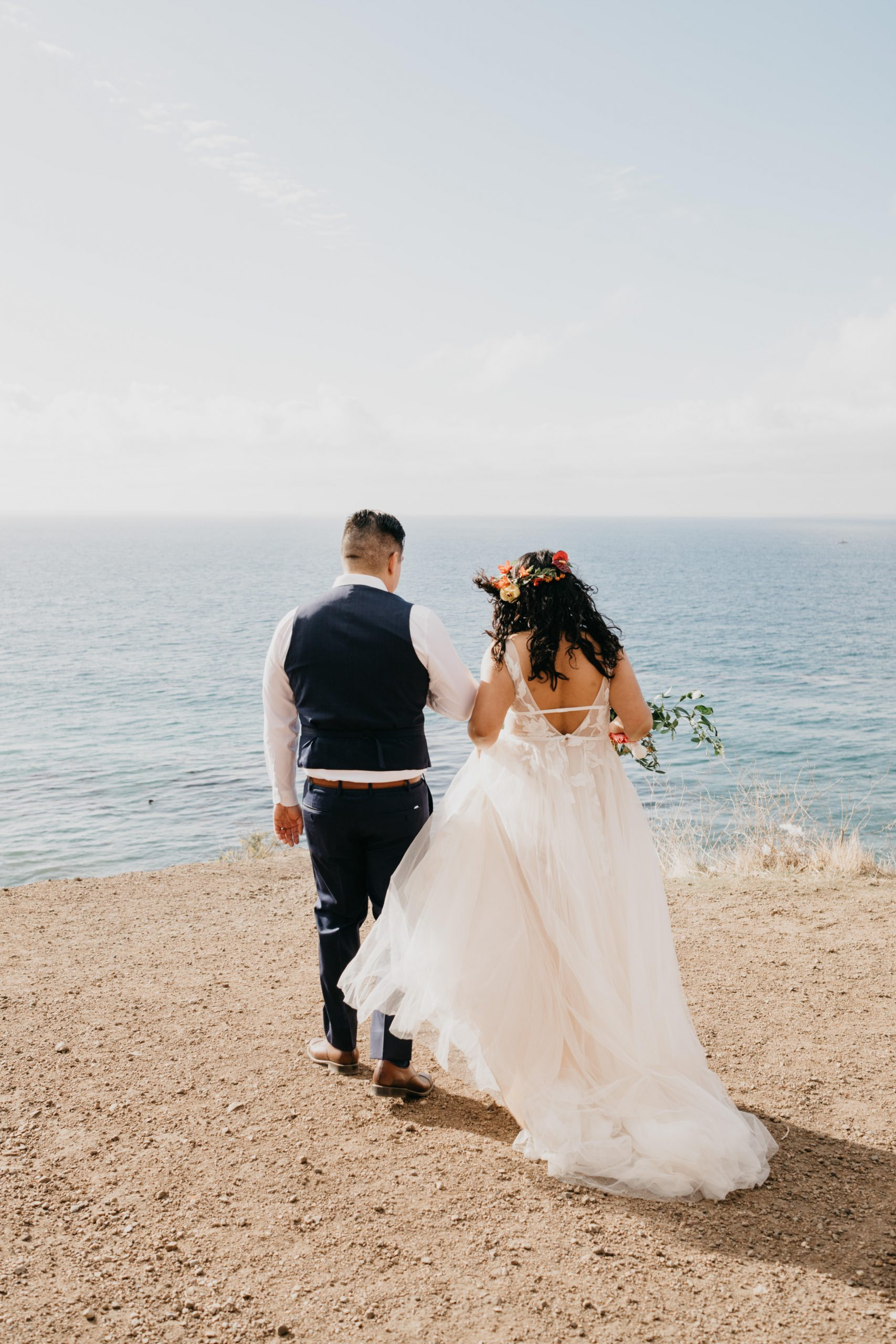 Bride and Groom Elopement in Malibu, image by Fatima Elreda Photo
