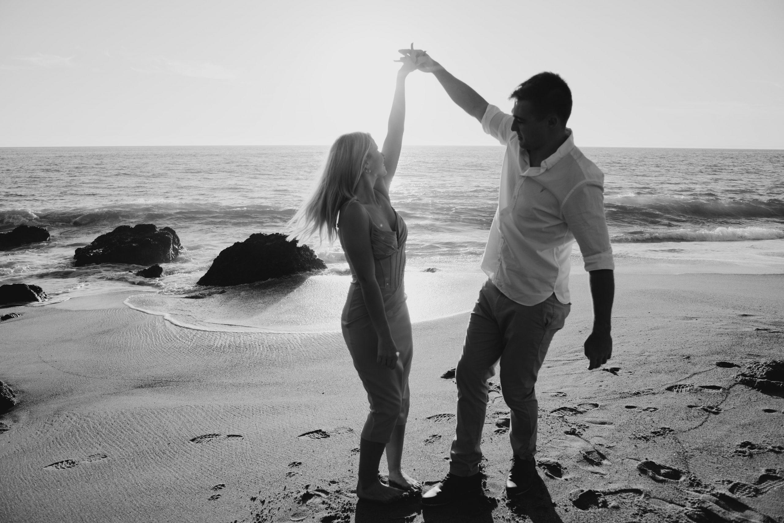Point Dume Engagement Photoshoot in Malibu, image by Fatima Elreda Photo
