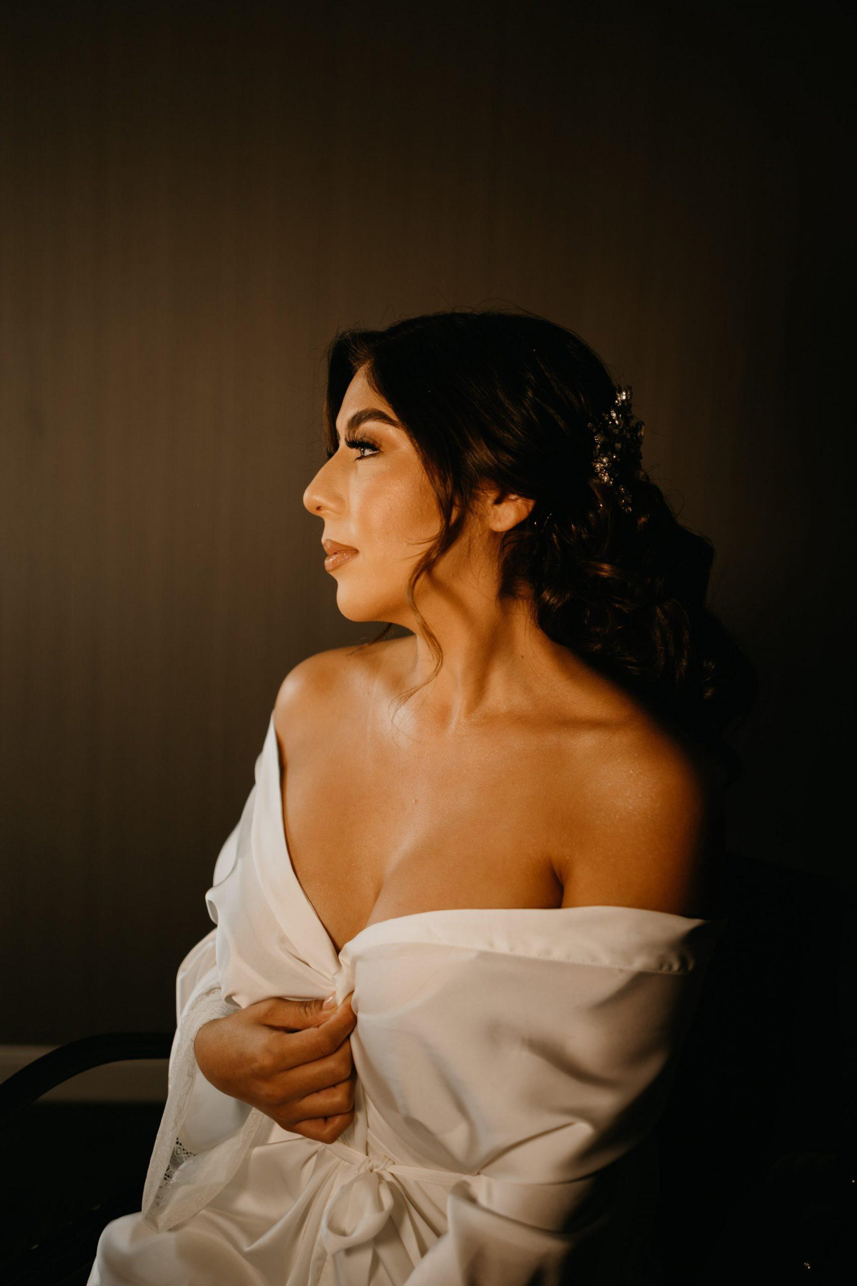 Bride getting ready photo, image by Fatima Elreda Photo