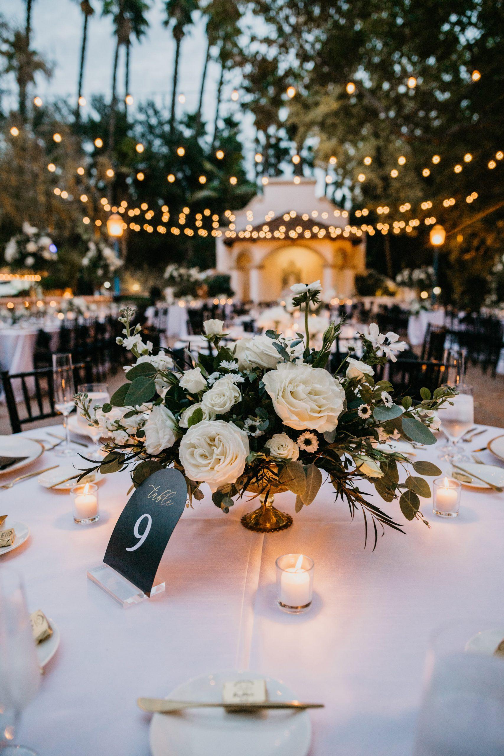 Rancho Las Lomas Wedding Reception Details, image by Fatima Elreda Photo