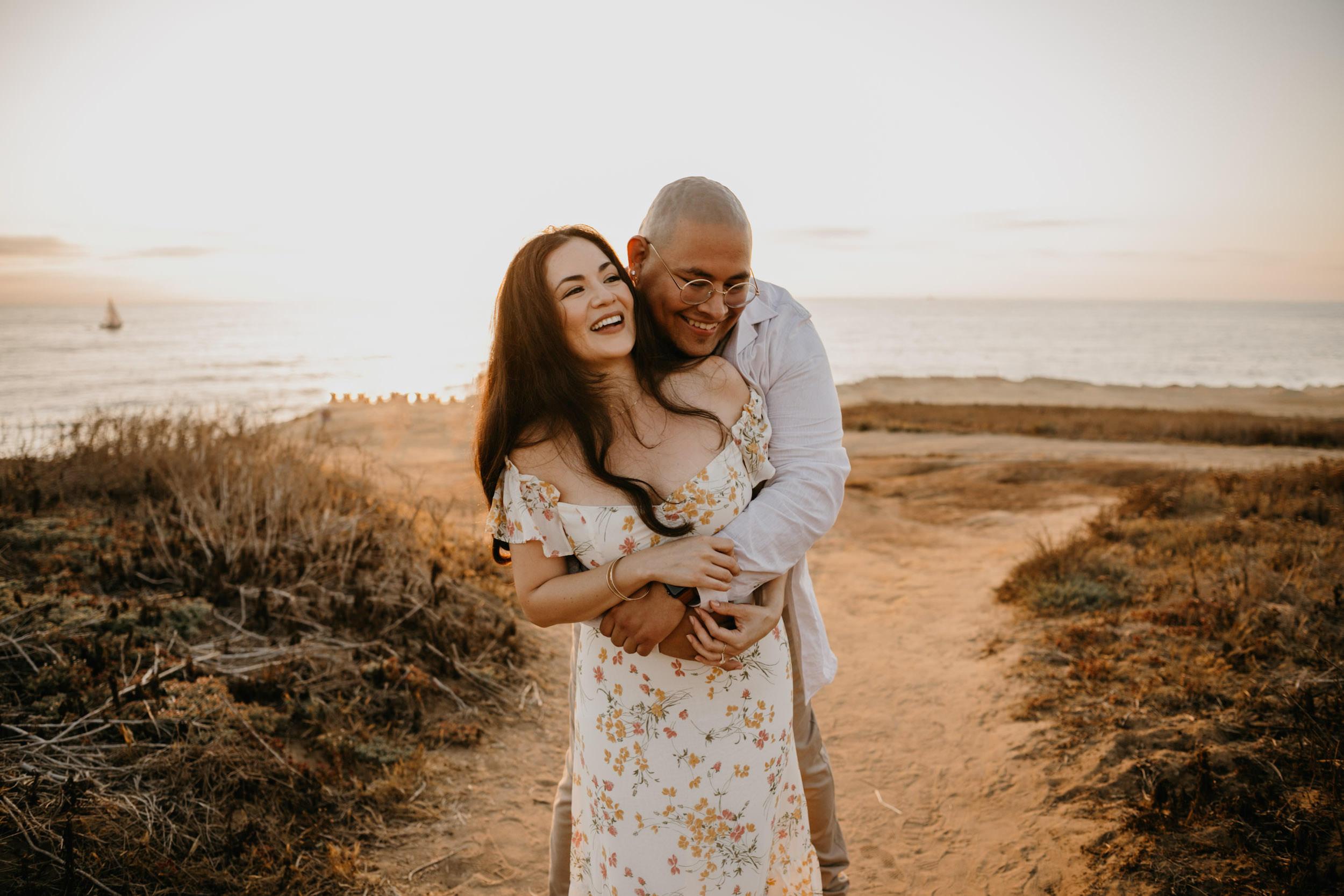 Sunset Cliffs Surprise Proposal in San Diego, image by Fatima Elreda Photo