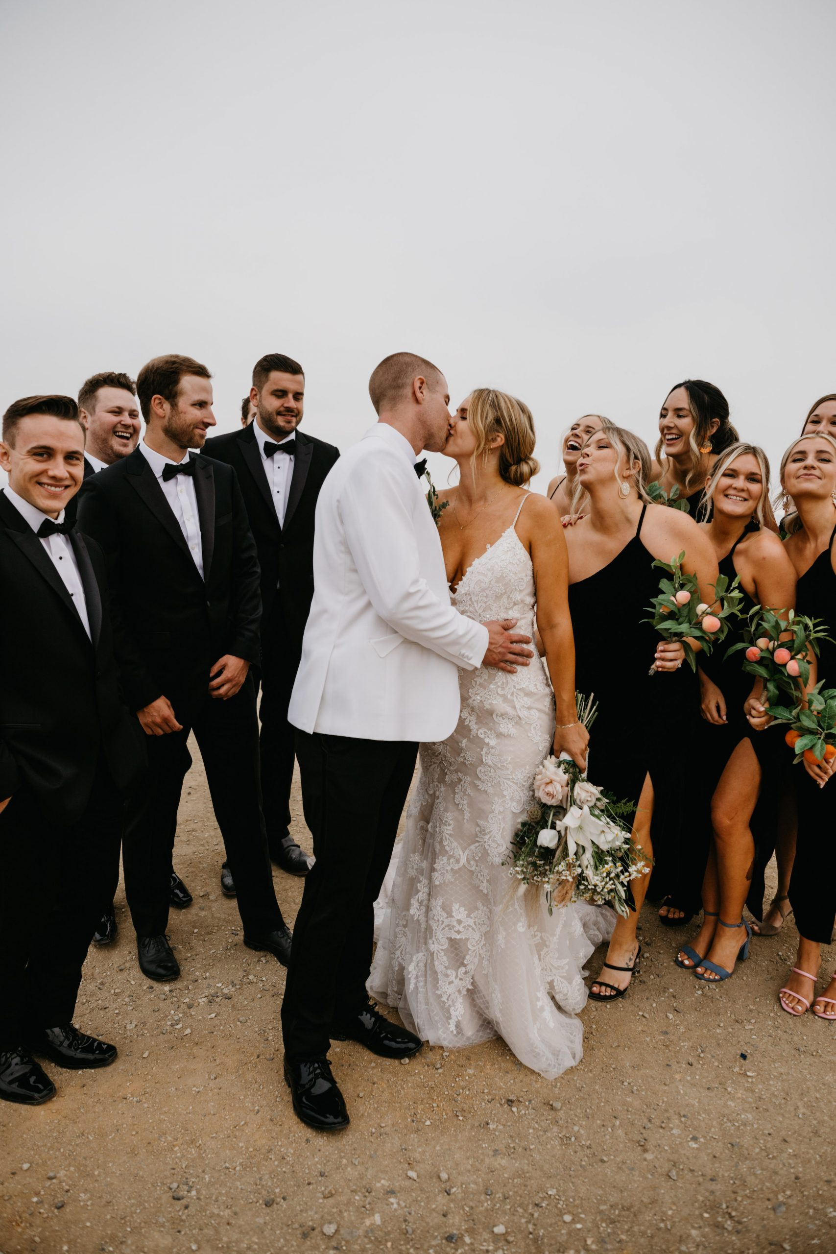 Bridal Party in Crystal Cove State Park Wedding in Laguna Beach, image by Fatima Elreda Photo