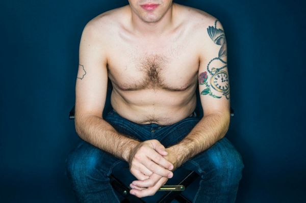 NEW YORK, NY - JULY 7: Tyler Kingkade takes part in a photo shoot focused on men's torsos in New York on Tuesday July 7, 2015. (Photo by Damon Dahlen, Huffington Post) *** Local Caption ***