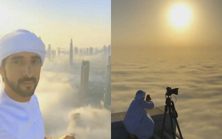 Assim é a vida acima das nuvens retratada pelo Príncipe herdeiro de Dubai