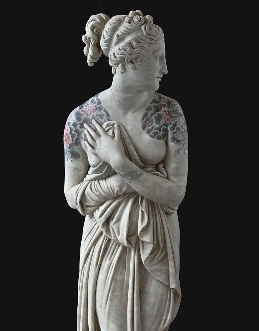 Classical Sculptures Tattoos Fabio Viale Italy 595b9b51b7ea4  880, Fatos Desconhecidos