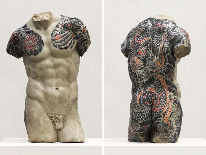 Classical Sculptures Tattoos Fabio Viale Italy 8, Fatos Desconhecidos