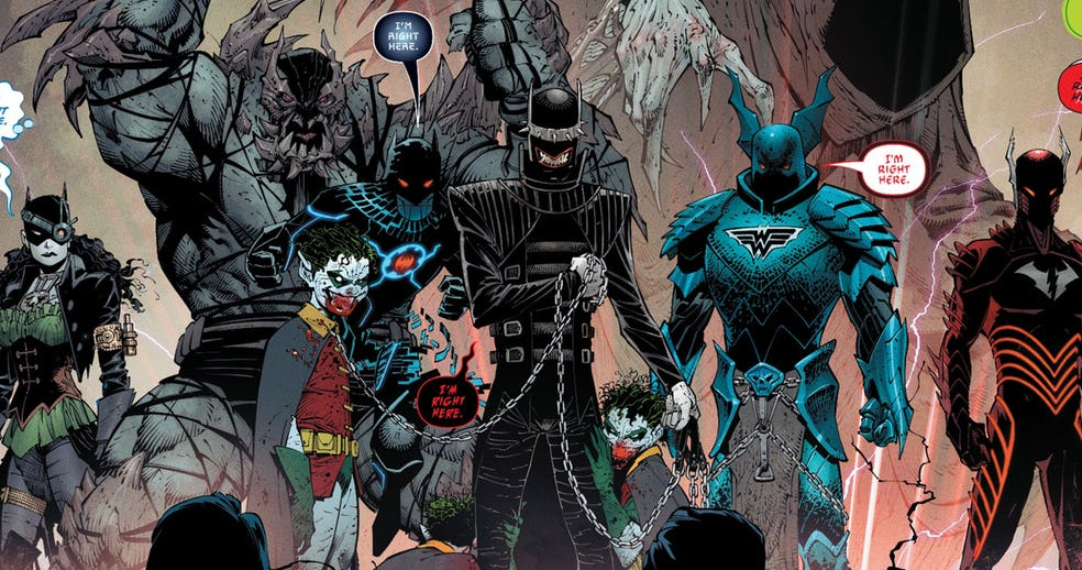 Conheça todas as 7 versões malvadas do Batman em Dark Nights: Metal
