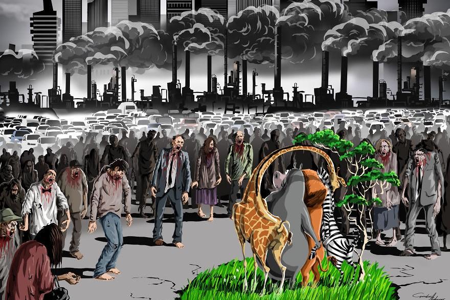 7 ilustrações irônicas mostram a realidade do mundo em que vivemos