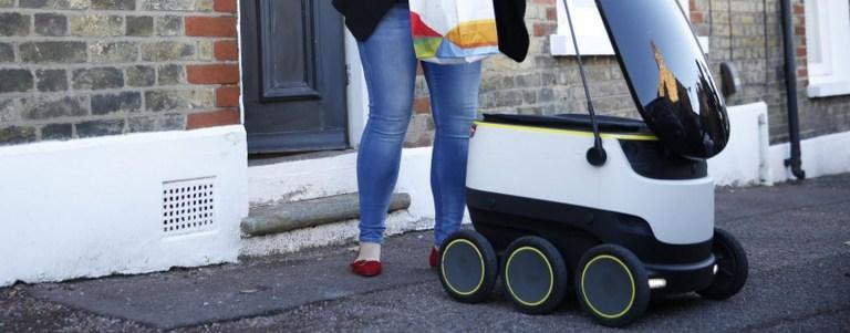 Isso é o que acontece quando um robô faz o delivery da sua comida
