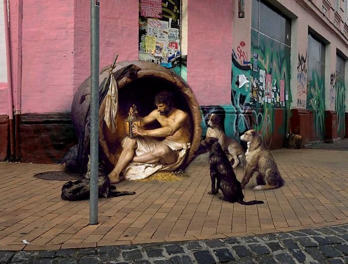 Artista coloca pessoas de pinturas antigas vivendo problemas modernos