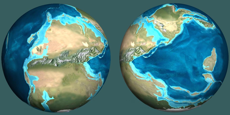 Como seria a localização dos países se a Pangeia fosse nos dias de hoje?