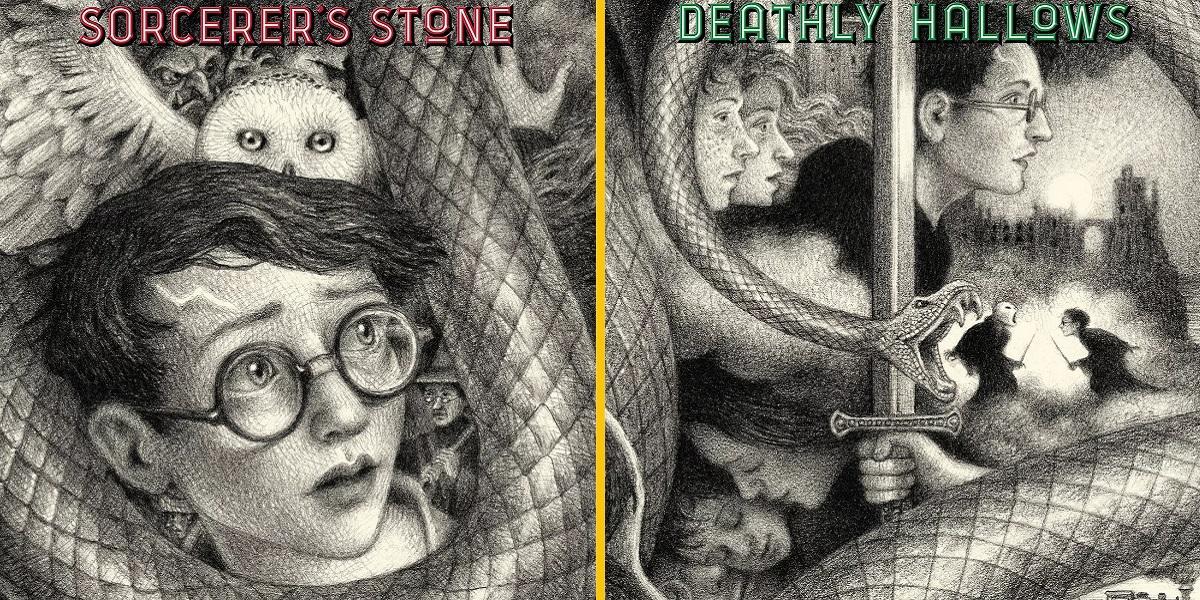 Novas capas da edição de aniversário de Harry Potter estão perfeitas