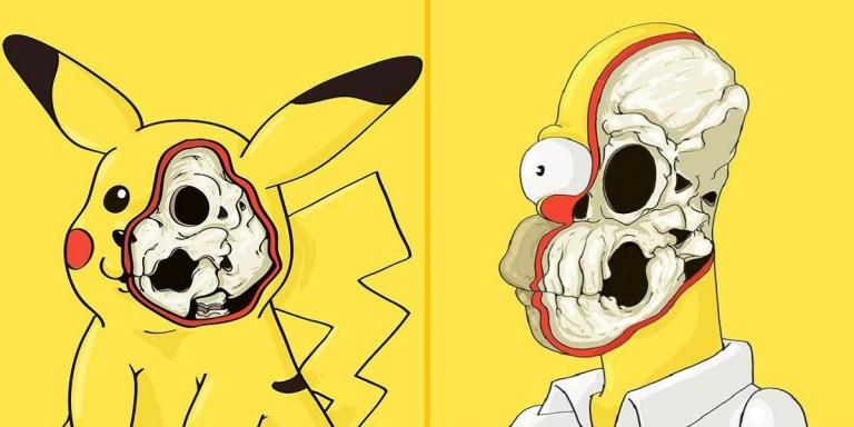 Imagens mostram como os personagens amarelos dos desenhos são por dentro