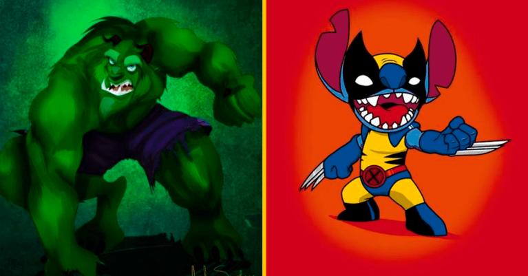 20 personagens da Disney reimaginados como super-heróis