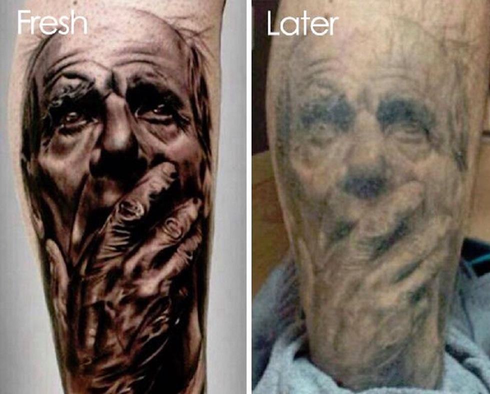 25 imagens que mostram como as tatuagens envelhecem