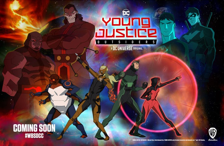 Young Justice Outsiders SDCC Poster, Fatos Desconhecidos