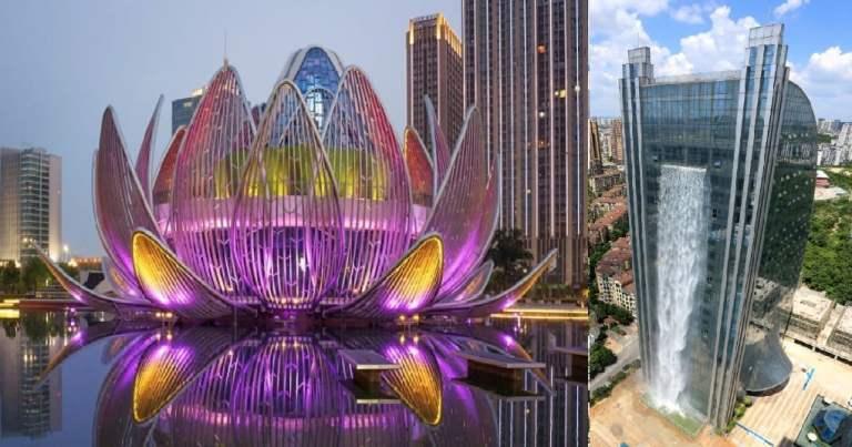 9 edifícios estranhos que existem na China