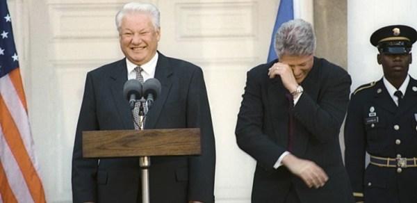 04 Boris Yeltsin Bill Clinton Wiki 600x292, Fatos Desconhecidos
