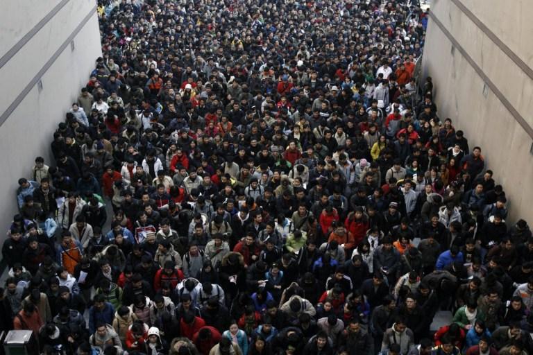 17 imagens chocantes que mostram o assustador número de pessoas na China