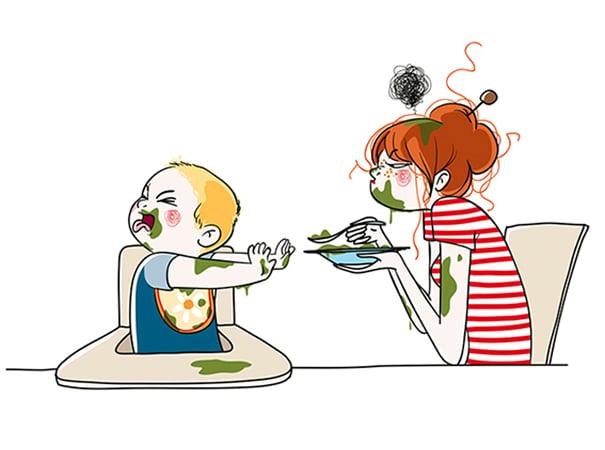 16 ilustrações honestas sobre como é ter filhos para uma mãe
