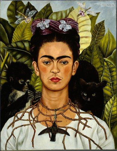 Frida Aut Com Colar De Espinhos 389x500, Fatos Desconhecidos