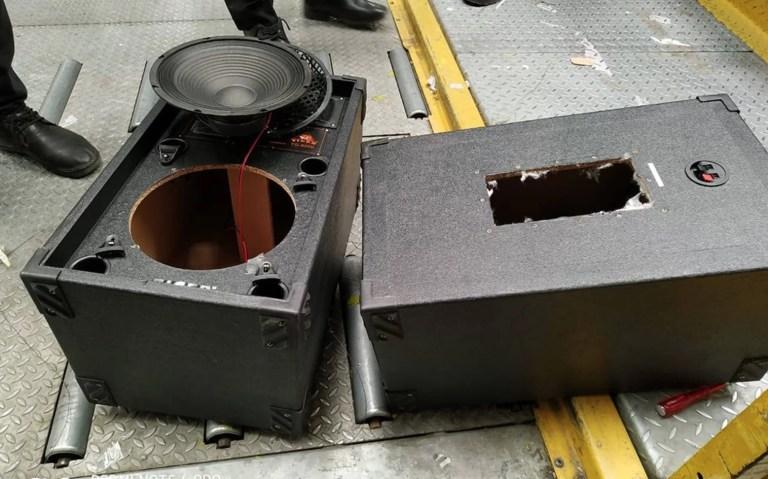Pessoas estavam tentando roubar partes de múmia em caixas de som