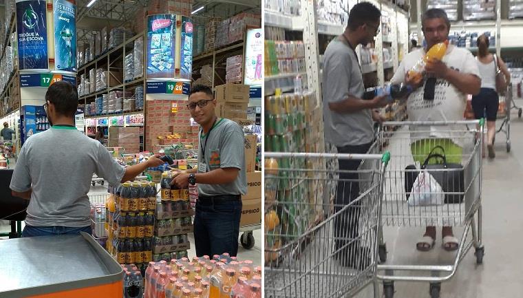 Deficiente visual se surpreende ao ser atendido com tamanha paciência por funcionário de supermercado