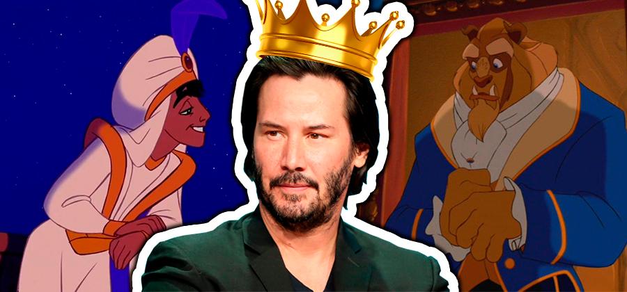 9 príncipes da Disney reimaginados como Keanu Reeves
