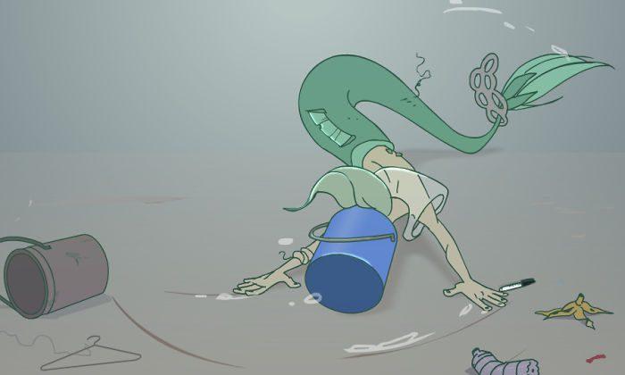 9 ilustrações deprimentes de uma sereia que vive nos tempos atuais